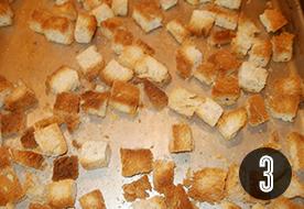 Fűszeres kenyérkockák