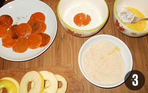 Rántott sütőtök almával