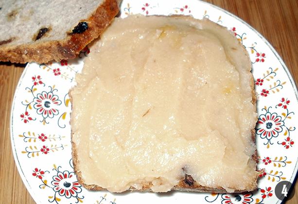 Diós kenyér sajtos birsalma krémmel