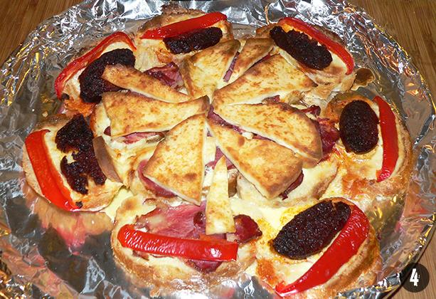 Zsemle-pizza